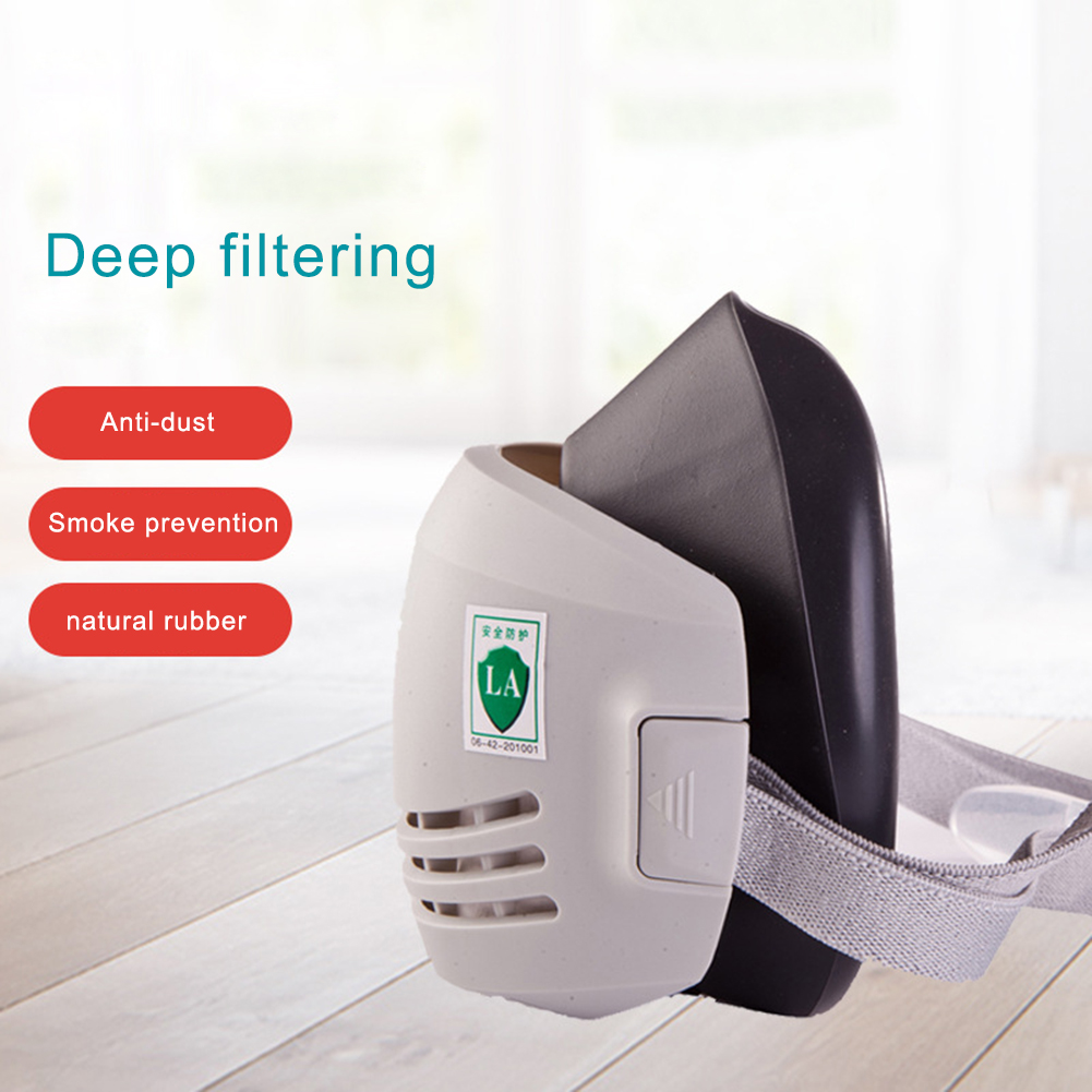 Dust Mask Respirator Half Face Dust-proof Mask Anti Industrial Construction Dust Haze Fog Safety Gas Filter Cotton Cover