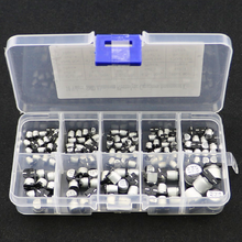 145Pcs 10 Values SMD 0.47 to 470uF Electrolytic Capacitor Assortment Kit For Electronic DIY Project