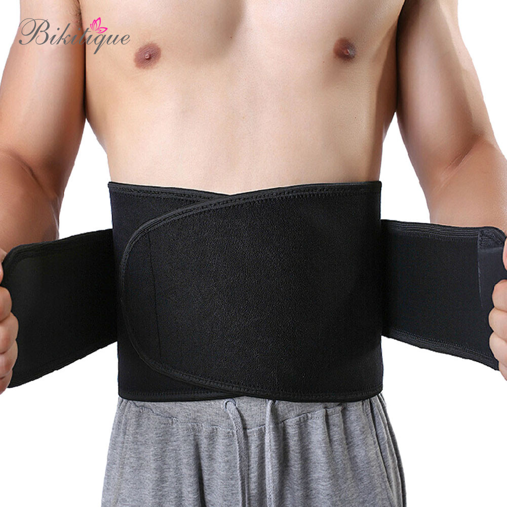 High Quality Adhesive Men's Slimming Waist Belt Neoprene Thermal Men Sport Shaper Belt Sweat Tranier Waist Band Girdle