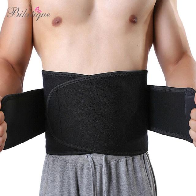 High Quality Adhesive Men's Slimming Waist Belt Neoprene Thermal Men Sport Shaper Belt Sweat Tranier Waist Band girdle