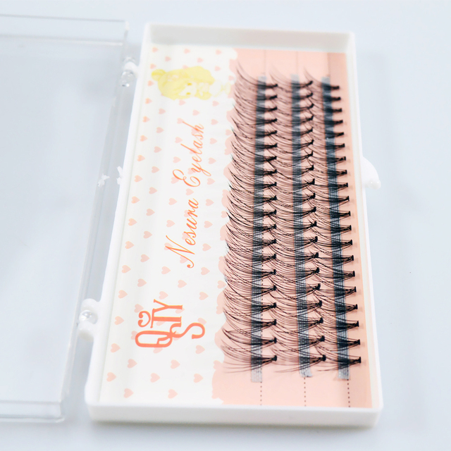 1box big capacity 60 bundles 6d 10D Eyelash Extensions 0.1mm Thickness true Mink Strip Eyelashes Individual Lashes Natural Style 1