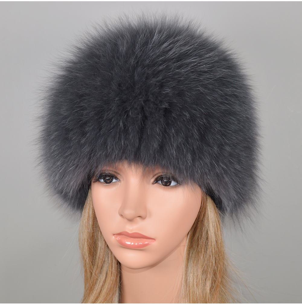 Heb6421bd15264818aecb9d204ae84383b - New Luxury 100% Natural Real Fox Fur Hat Women Winter Knitted Real Fox Fur Bomber Cap Girls Warm Soft Fox Fur Beanies Hats