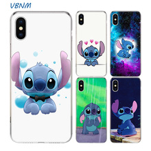 VBNM Lilo Stitch Fundas Soft Silicone Phone Back Case For Apple iPhone 7 8 6 6S Plus XS MAX X XR 10 TEN SE 5S 5 Cover