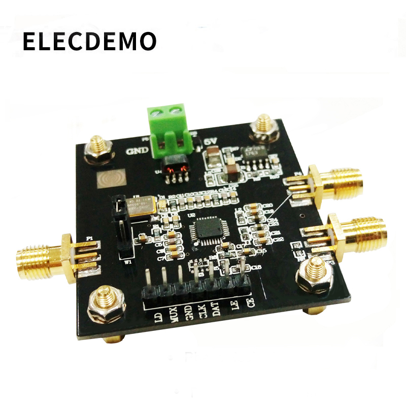 ADF4351 Module Phase-Locked Loop Module 35M-4.4GHz ADF4350 RF Signal Source Frequency Synthesizer Function Demo Board