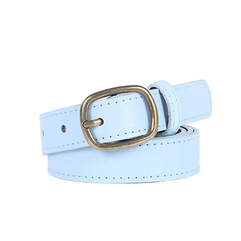 Ke Meiqi bronze buckle ladies retro belt women wild fashion decoration student youth jeans ladies belt Pakistan