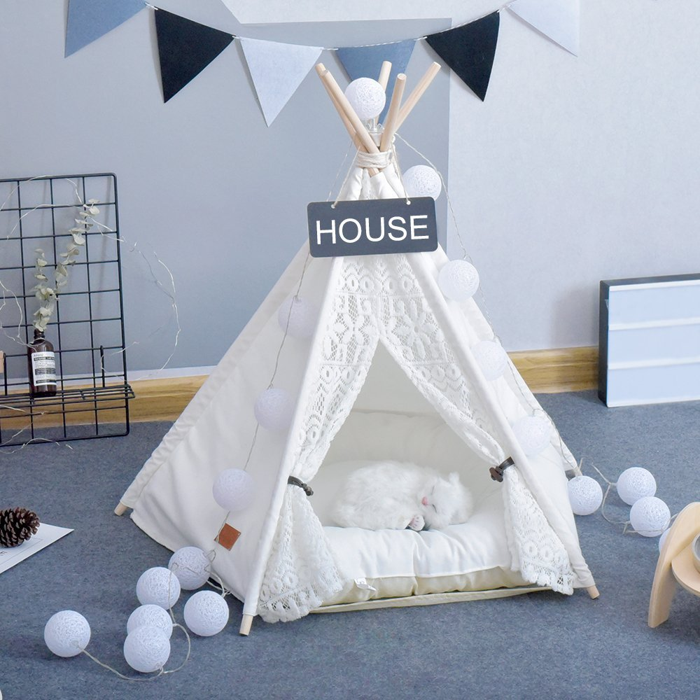 Lace Dolls Teepee Mini Tipi Tiny Photography Teepee Infant Toddler Baby Tipi Prop Teepee Without Cushion 24
