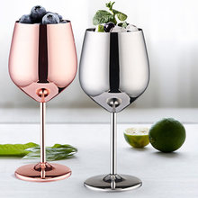 500 мл Нержавеющаясталь один Слои сок бокал шампанского Позолоченные одно-Слои бокалы-подвески вечерние поставки