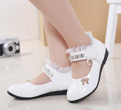 Girl fashionable  Mary Jane Student School Shoes Flats Princess Dress