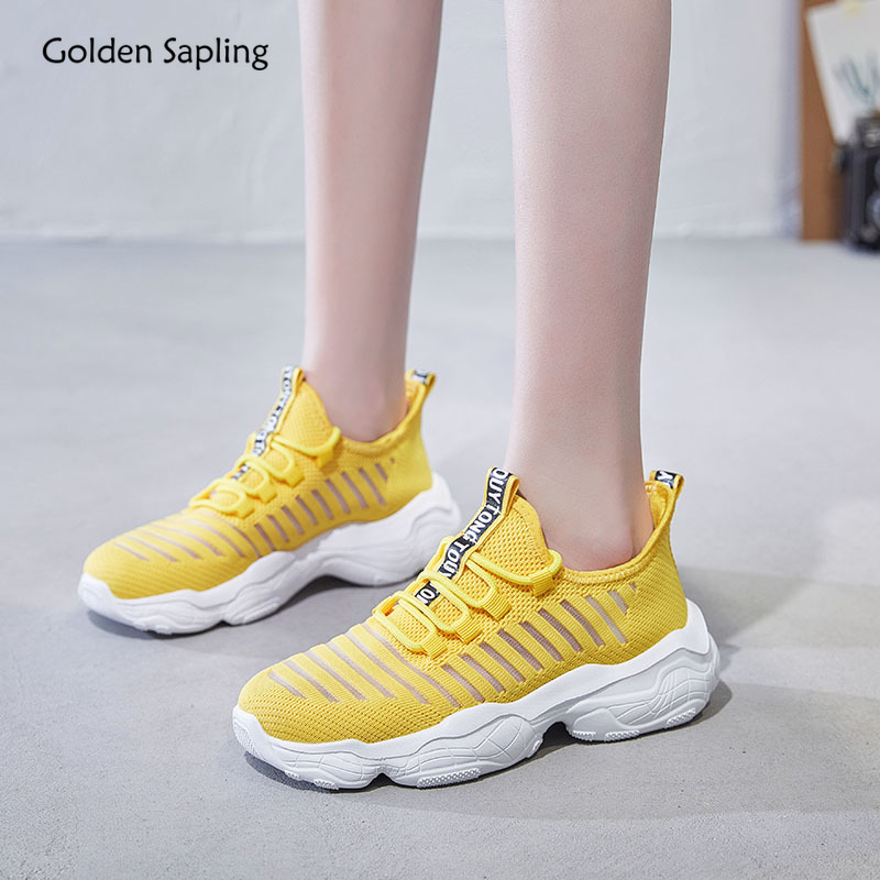 Golden Sapling Lightweight Women's Sneakers Breathable Air Mesh GYM Sport Shoes Women Trainers Platform New Classic Running Shoe