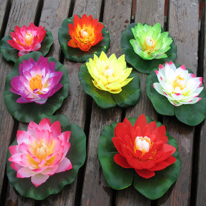 Artificial Flowers 10cm Floating Lotus Flower Home Party Wedding Decorations DIY Water Lily Fake Plants Bonsai Sztuczne Kwiaty