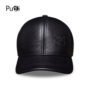 Image 3 - HL125 Spring autumn genuine leather baseball cap men brand new warm real cow leather caps hats