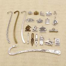 1 Piece Charms Vintage Ink Nib Pen Antique Making Pendant Fit,Vintage Tibetan Bronze Silver Plated,DIY Bracelet Necklace HJ117(China)