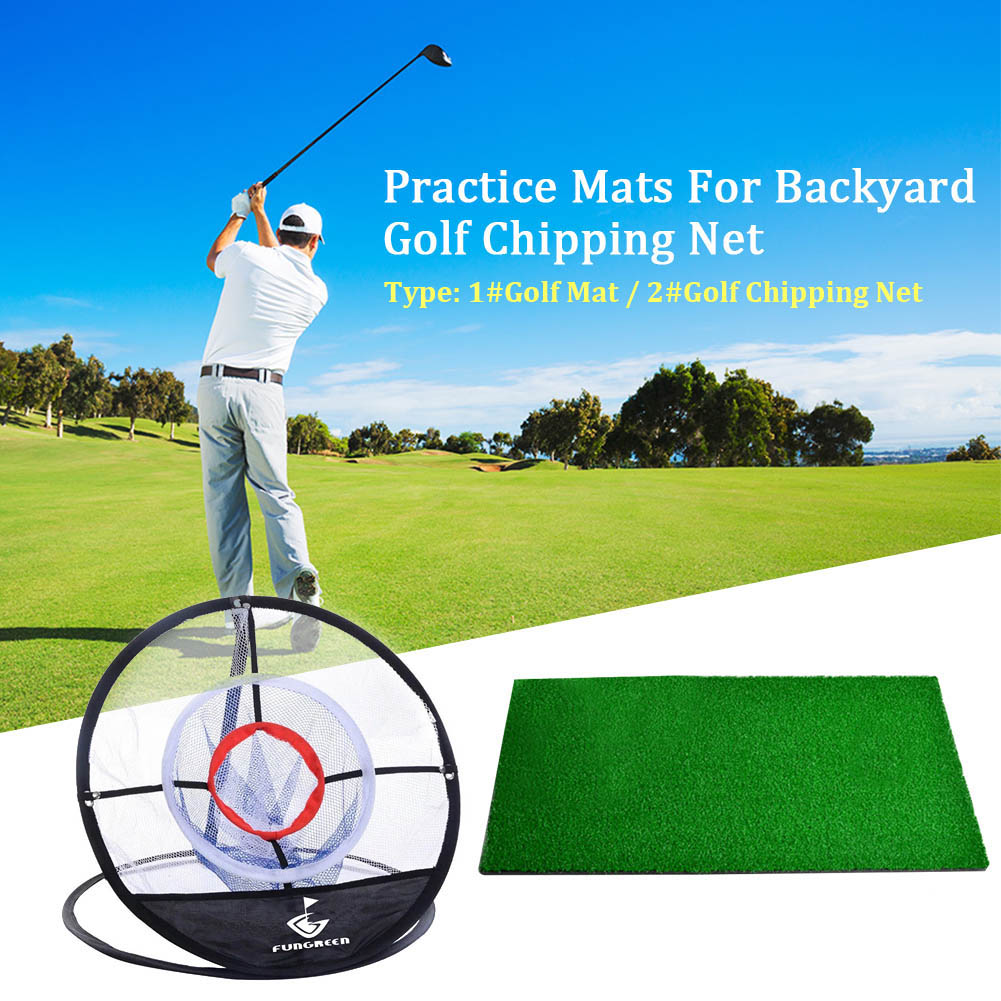Home For Backyard Golf Chipping Net Practice Mats Training Aids Tool Foldable Playground Beginners Gift Indoor Outdoor Garden