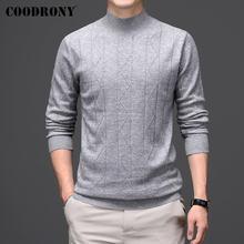 Coodrony/Зимний толстый теплый мужской свитер с высоким воротником