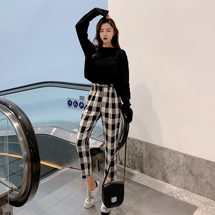 WOMEN'S Dress 2019 Spring Clothing New Style Korean-style Playful Network Hong Yang Gas Students Two-Piece Set Women's