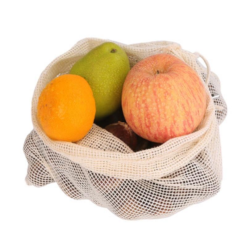 2019 Reusable Fruit Shopping Green Environmental Protection Shopping Bag Cotton Woven Net Multi-Function Vegetables Bags WML99