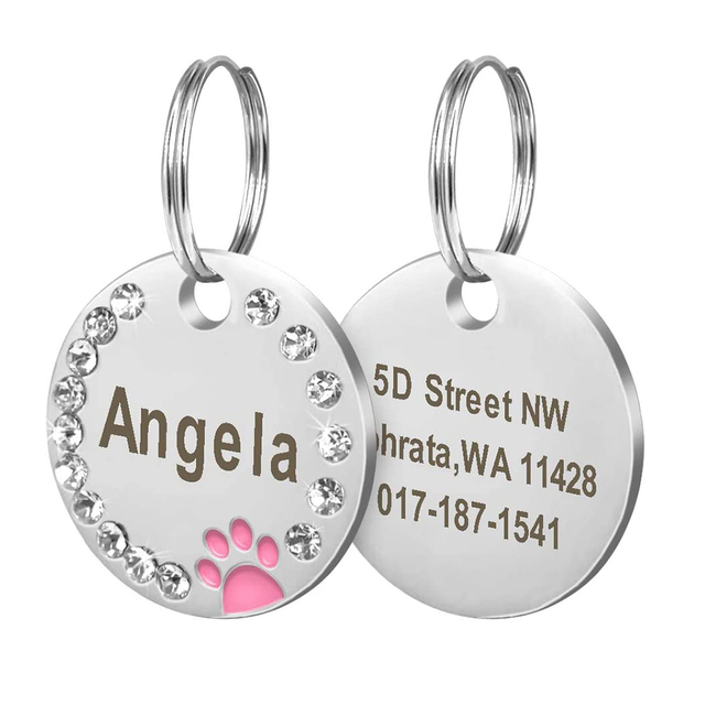 Anti-lost Dog Collars Dog Name ID Tags Gifts for Dog Lovers Pet Collar Tags for Dog Owner Engraved Pet Tag New Puppy Tag Gifts