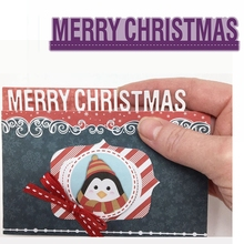 Merry Christmas Metal Cutting Dies Phrase Die Cuts For Card Making DIY Decoration New 2019 Embossed Crafts Cards