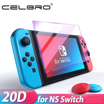 Szkło ochronne do przełącznik do nintendo ochronne szkło hartowane na ekran dla nintendo Switch NS akcesoria szklane ochrona ekranu tanie i dobre opinie CELBRO for Nintendoswitch Nintendswitch on Accesorios Soft Film Hori Blue Ray Tempered Glass 9H Ultra Hard Glass Violet Tempered Glass