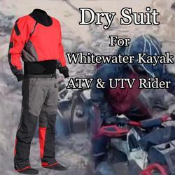 Traje seco Kayak de aguas bravas traje seco impermeable traje de lluvia traje de carreras para barro ATV y UTV Rider actividades aventuras caza pesca