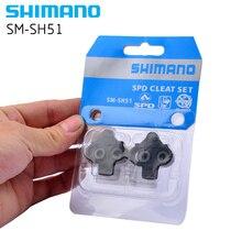 цена на Shimano SPD SM-SH51 SM-SH56 Stollen Paar Einzel Release/Multi-Release Pedal Stollen w/Cleat Mutter Platten Float berg sh5