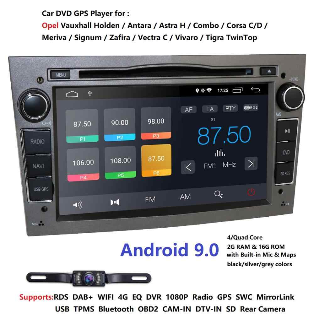 Android 9.0 1024X600 7 pouces 2din voiture GPS lecteur DVD pour Opel Astra h g Zafira B Vectra C D Antara Combo Radio audio