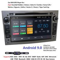 Android 9.0 1024X600 7inch 2din Car GPS DVD player for Opel Astra h g Zafira B Vectra C D Antara Combo Radio audio