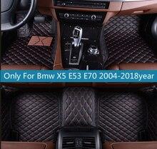цена на leather car floor mats for Bmw X5 E53 E70 2004-2013 2014- 2016 2017 2018 Custom auto foot Pads automobile carpet cover