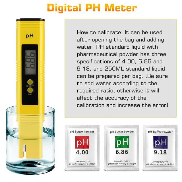 PH Meter 0.01 PH High Precision Water Quality Tester with 0-14 PH Measurement Range, Suitable for Aquarium, Swimming Pool 5