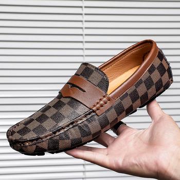 Męskie mokasyny miękkie futro męskie mokasyny skórzane buty męskie buty do jazdy samochodem na co dzień brytyjskie męskie modne buty wsuwane mieszkania tanie i dobre opinie KAXIN CN (pochodzenie) Z dwoiny RUBBER donghui56-DH2001 Loafers men Dobrze pasuje do rozmiaru wybierz swój normalny rozmiar