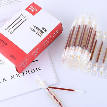 Iodine cotton swabs 2-in-1 paper wipe disinfection cotton swabs 50 pcs/ box