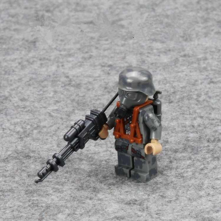 WW2 Firebat Army Mini Figures Military Weapons Parts Accessories Playmobil City Bricks Building Block Toys