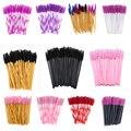 Eyebrow Mascara Wand Eyelash Spoolie Brush 50 pcs/set Wholesale Disposable Lash Wands Eyelash Extension Brush