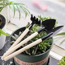 Spade-Set Flowers-Tools Planting Head-Shovel Rake Soil Mini-Tool Gardening 3pcs Metal