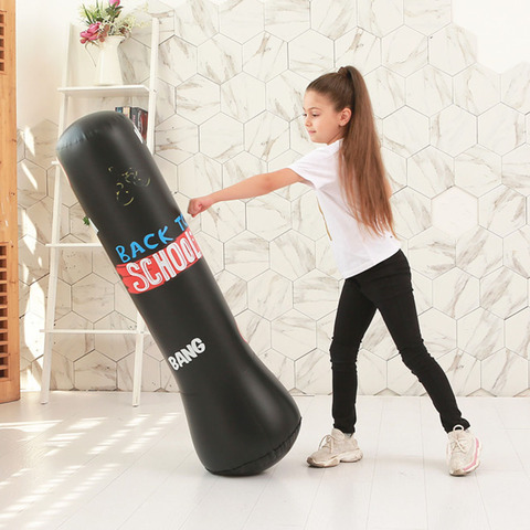 Bolsa de Perfuração Inflável para Crianças Livre para Alívio do Estresse Bolsa Sustenta Boxe Perfurar Torre Que se