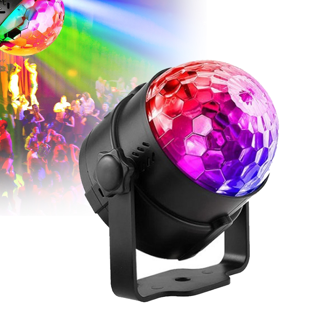 Show Performance Stage Effect Lights LED Automatic Sound Activated Disco Ball DJ Stage Effect Projector Light Lamp