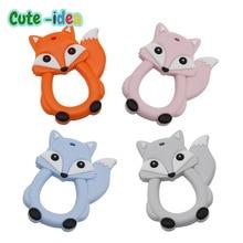 Beads Baby Pacifier-Chain Cliptoys Nursing-Chewing Cartoon Silicone Fox Cute-Idea 1pc