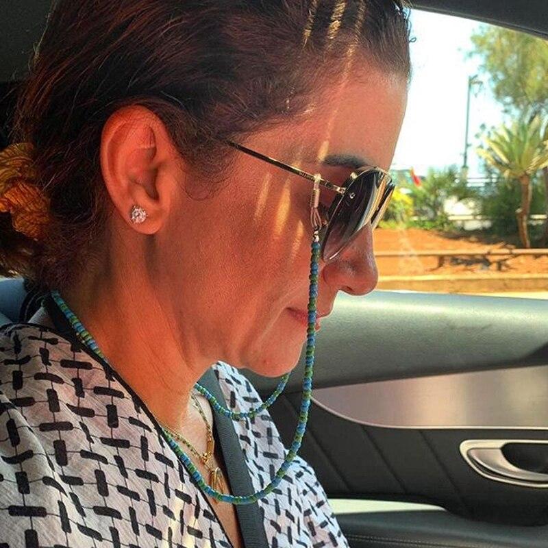 MOON GIRL цепочка для солнцезащитных очков, держатель из натурального камня для девушек, уличные стильные очки, шнур для шеи, противоскользящий brillenketten, Прямая поставка|Аксессуары для очков| | - AliExpress