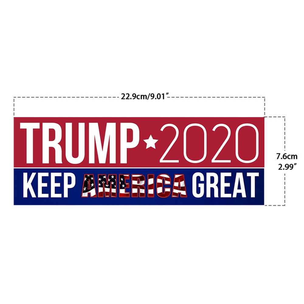 10PCS Donald Trump President 2020 Bumper Sticker Keep Make America Great Election Decal Window Car Laptop Bumper Stickers