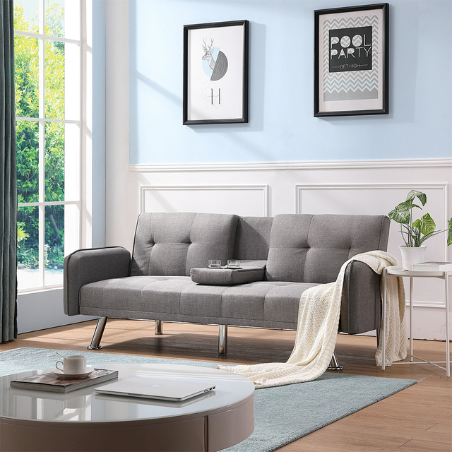 Light Grey Sofa Bed Couch  1