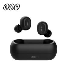 QCY T1C TWS 5 0 Bluetooth słuchawki 3D stereo bezprzewodowe słuchawki z podwójny mikrofon tanie tanio QCY QS1 Zaczepiane na uchu Technologia hybrydowa CN (pochodzenie) wireless 108±3dBdB 0Nonem do telefonu komórkowego Do gier wideo