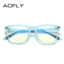 AOFLY фирменный дизайн, синий светильник, блокирующие очки, детские оптические очки для девочек, TR90, гибкая оправа, Детские компьютерные очки, UV400