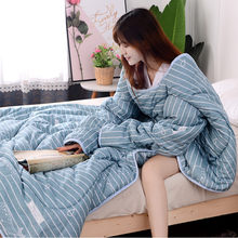 Winter Lazy Quilt With Sleeves Quilt Winter Warm Thickened Washed Quilt Blanket(China)