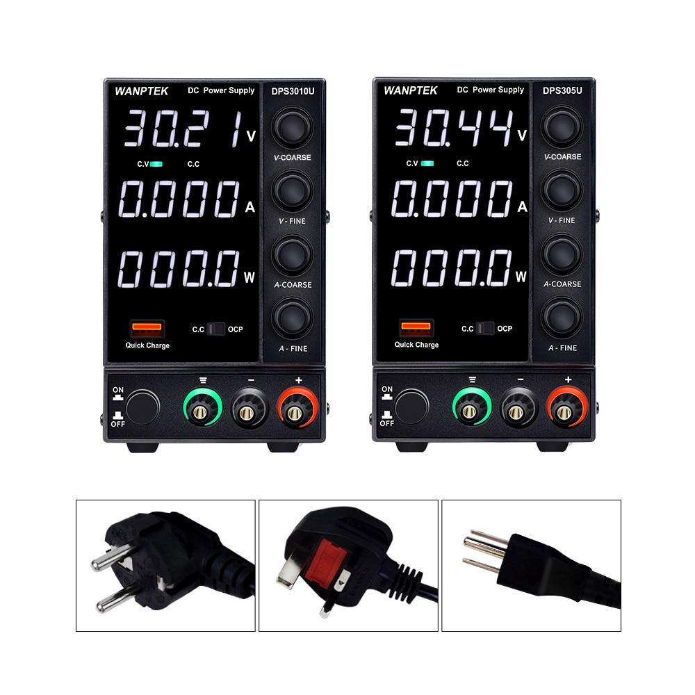 Wanptek DPS3010U 305U 605U switching DC power supply adjustable 4 digit lab Bench power source 30V 10A 30V 5A 0.01V 0.001A AC-0