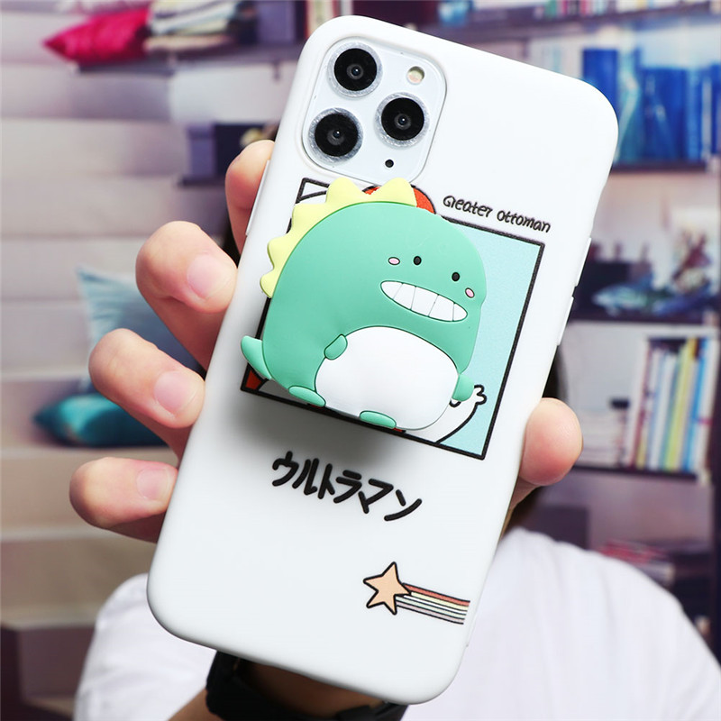 Cute Cartoon Print Design Made Of Soft TPU Material Standing Case For iPhone Mobiles 2