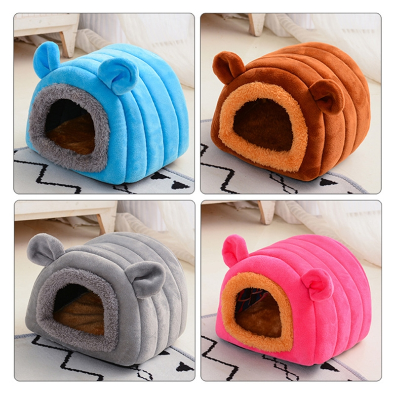 Hamster House Tent Winter Warm Sugar Glider Cage Sleeping Bed Cave for Guinea Pigs Small Animals Hedgehog Hideout Habitat Nest