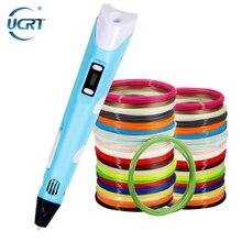 UCRT 3D Pen Kits Original DIY 3D Printing Pen With 100M 1 75mm ABS PLA Filament