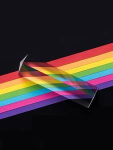 Prisms Physics Light-Spectrum Glass Triangular-Prism Refracted Present Rainbow Optical