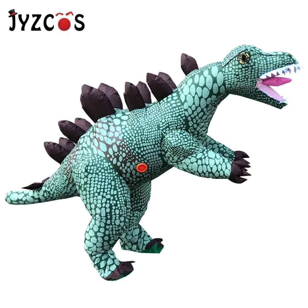 Jyzcos Stegosaur Dinosaur Inflatable Costumes Jurassic World Park T Rex Dinosaur Cosplay Costume Halloween Party Costume Adult Anime Costumes Aliexpress