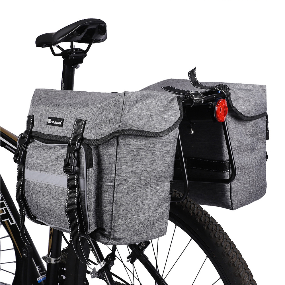 WEST BIKING Bicycle Carrier Bags Rear Rack Equipment Trunk Pannier Cycling 28L Outdoor Cycling Accessories MTB Bike Bag